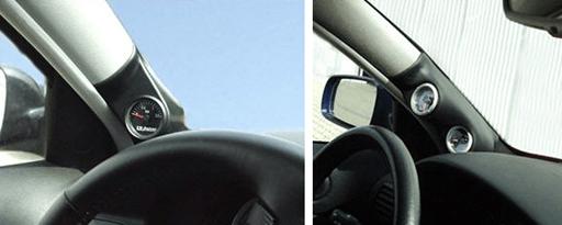 Zusatzinstrumentenhalterungen Gauge mountsfuer die A-Säule passgenau