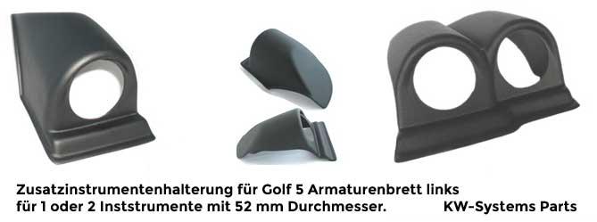 Zusatzinstrumentenhalterungen dashmount Gauge mounts golf jetta